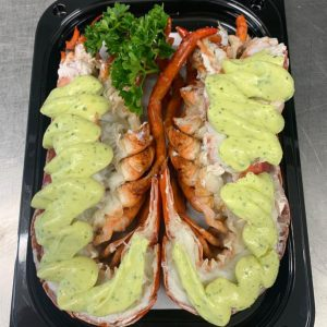 Dressed Lobster with Garlic and Herb Butter