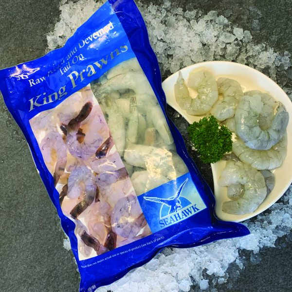 Peeled and Deveined Frozen King Prawns (1kg) (18-25pcs)
