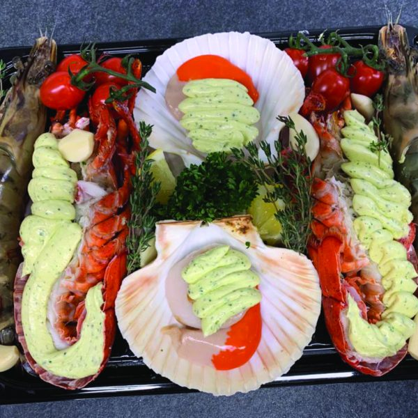 hot shellfish platter