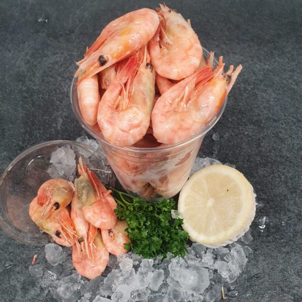 large cooked prawns