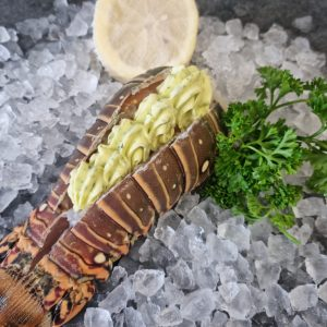 lobster tail with garlic butter